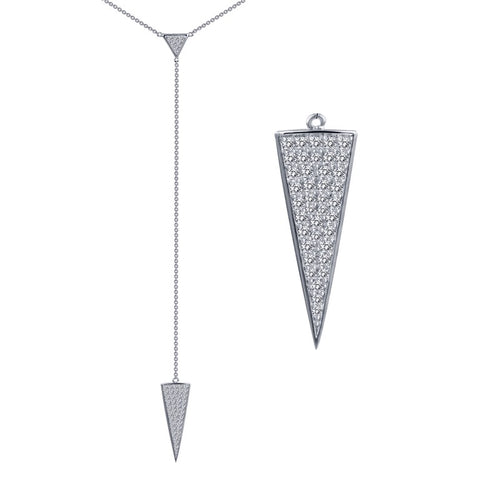 Lafonn Tapered Drop Necklace