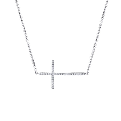 Lafonn Sideways Cross Necklace