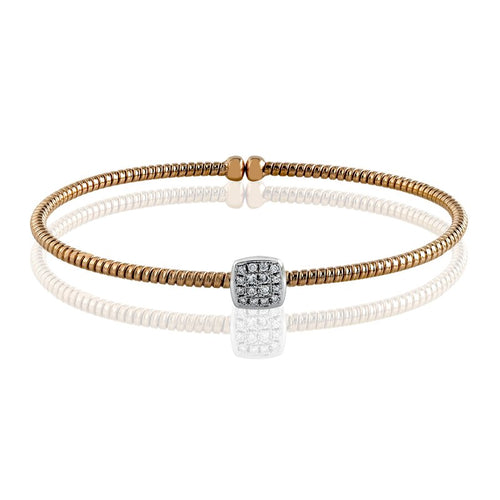 Simon G. Classic Romance Rose Gold And Diamond Bangle Bracelet
