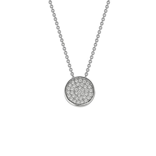 Lafonn Pave Disc Necklace
