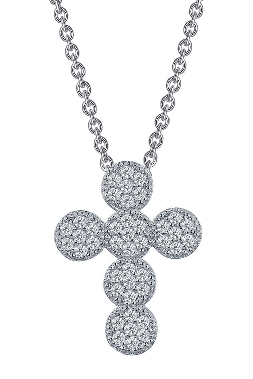 Lafonn Joyous Cross Cluster Necklace