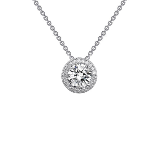 Lafonn Classic Round Halo Necklace