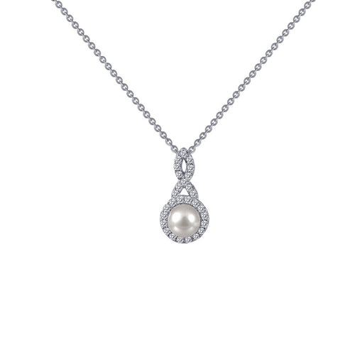 Lafonn Freshwater Pearl Fancy Halo Necklace