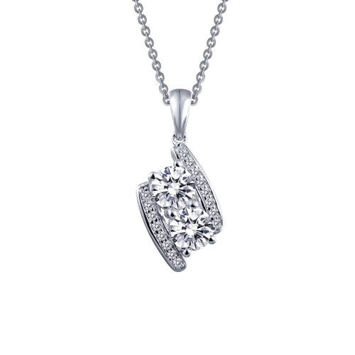 Lafonn Fancy Two Stone Necklace