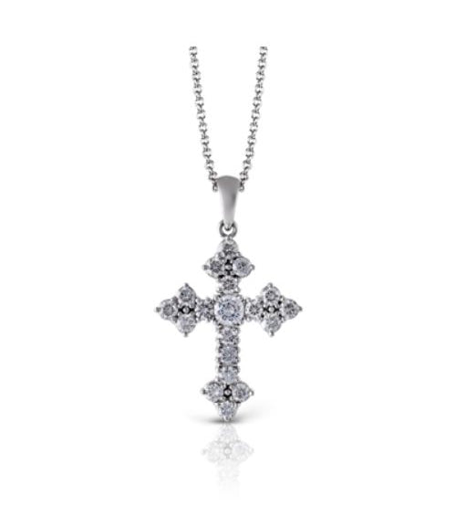 Simon G. Fancy Diamond Cross Necklace