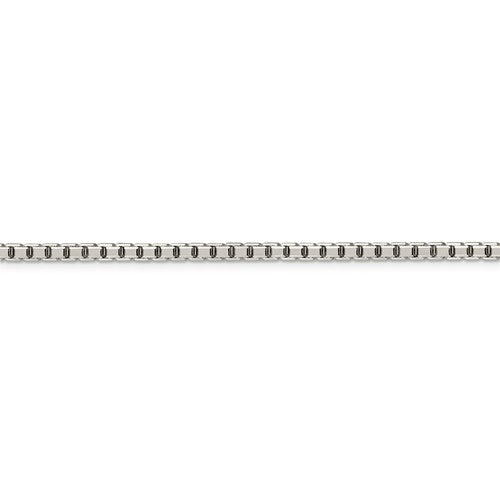 Sterling Silver 3.2mm Diamond Cut Box Chain