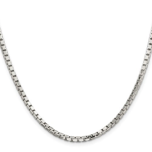 Sterling Silver 32mm Diamond Cut Box Chain