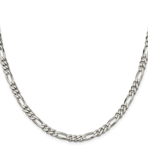 Sterling Silver 525mm Figaro Chain