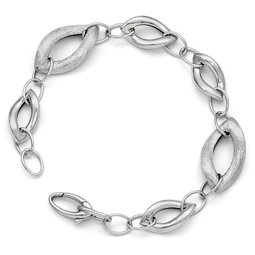 Polished And Brushed Fancy Link Bracelet