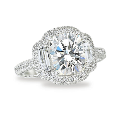 Lafonn Radiant And Baguette Shaped Halo Ring
