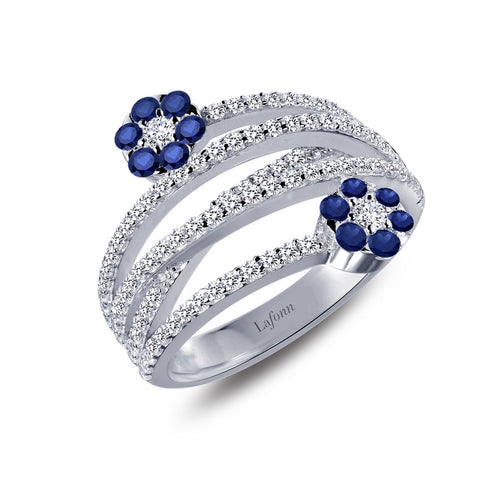 Lafonn Flower Criss Cross Ring