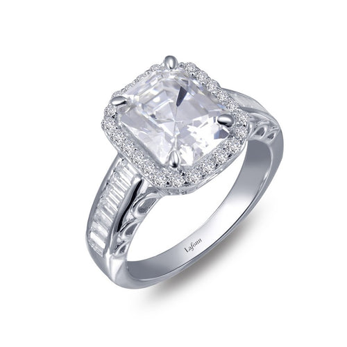 Lafonn Emerald Cut Halo Ring