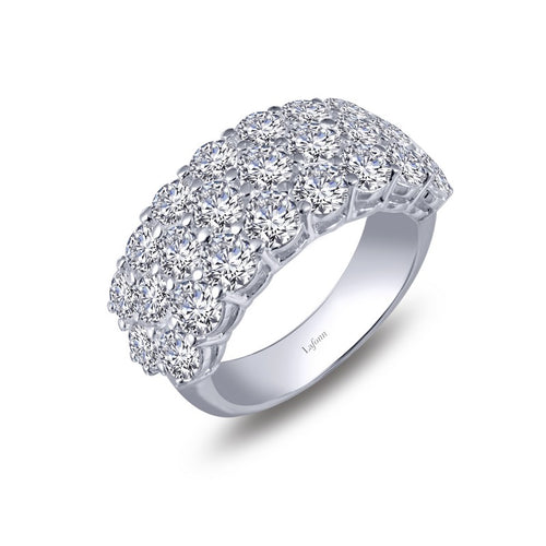 Lafonn Three Row Simulated Diamond Band