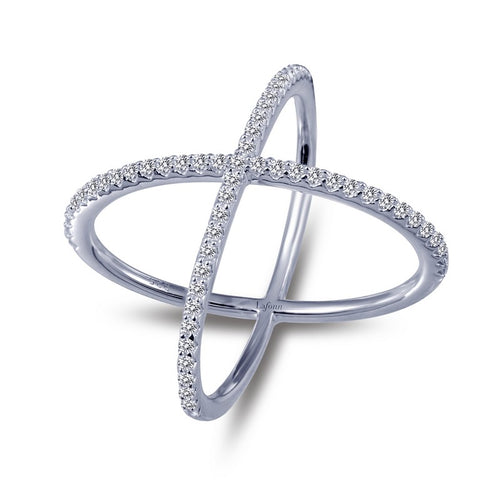 Lafonn Simulated Diamond X Ring