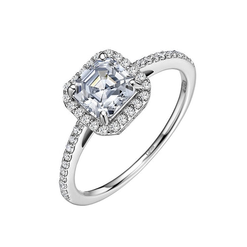 Lafonn Simulated Diamond Asscher Cut Halo Ring