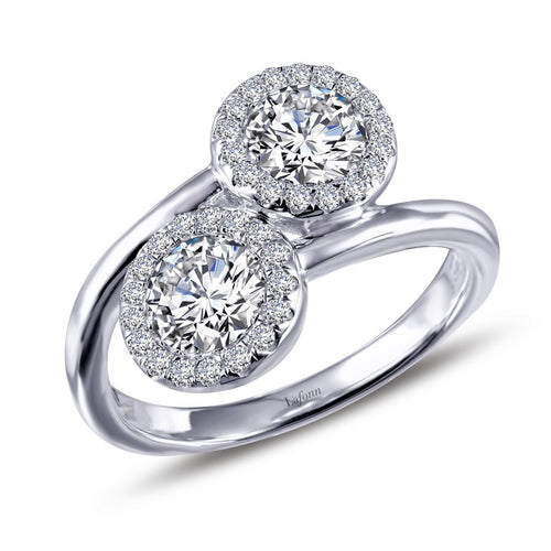 Lafonn Halo Two Stone Ring