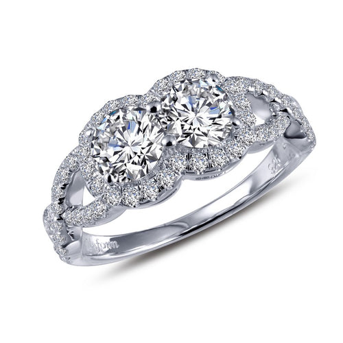 Lafonn Fancy Two Stone Halo Ring