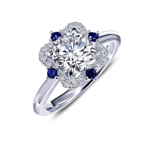 Lafonn Heritage Cushion Ring With Simulated Sapphires