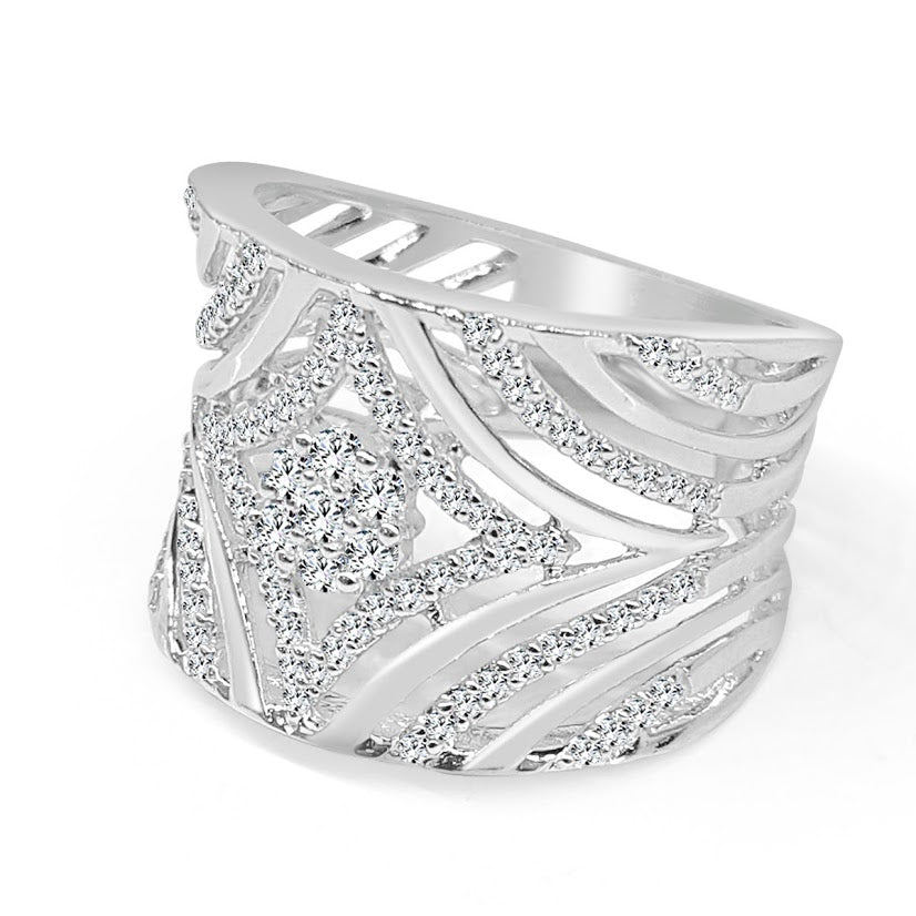 Fancy Wide Diamond Band