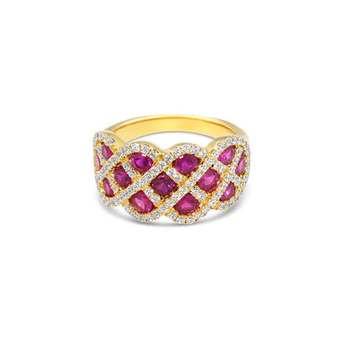 Fana Ruby And Diamond Crisscross Band