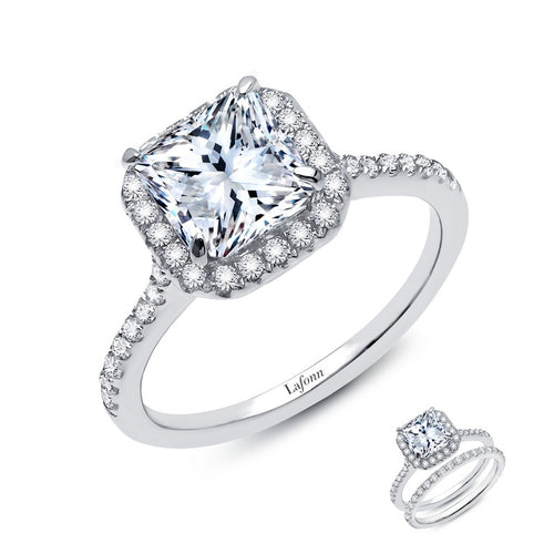 Lafonn Cushion Cut Halo Ring
