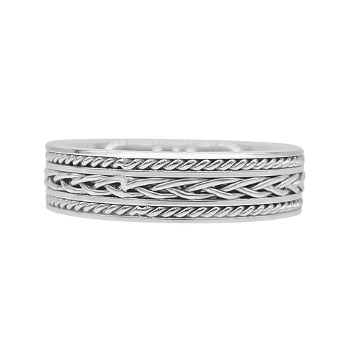 Steel Weave Patterned Band