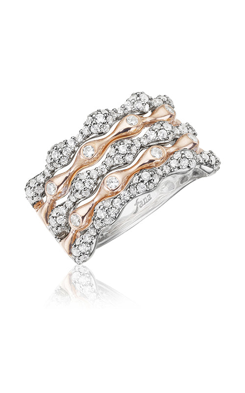 Fana Diamond And Rose Gold Wave Fancy Ring