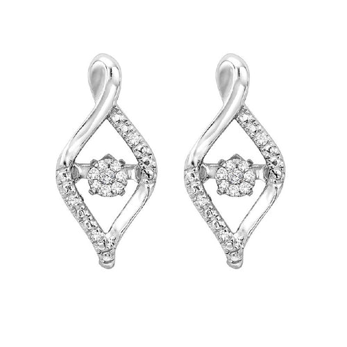 Fancy Diamond Twist Rhythm Of Love Earrings