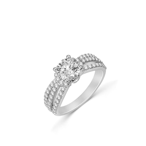 Fana Triple Shank Engagement Ring