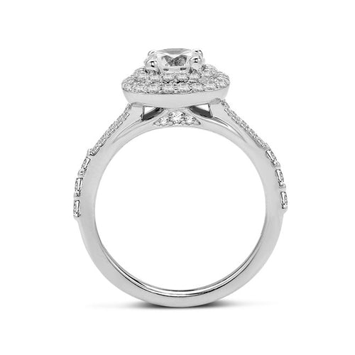 Fana Double Halo Split Shank Engagement Ring