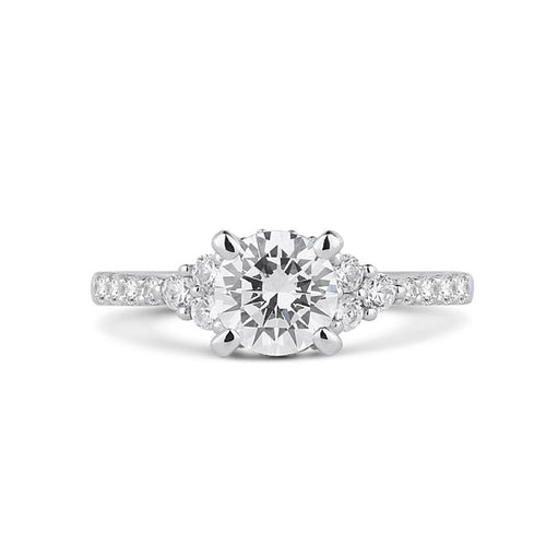 Fana Engagement Ring With Diamond Shank