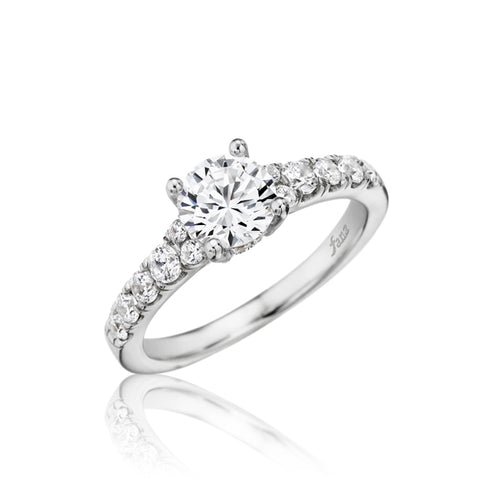 Fana Tapered Shank Diamond Solitaire