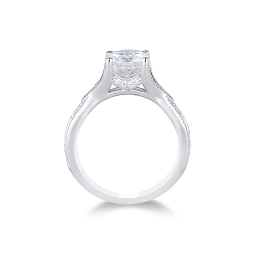 Fana Milgrain Twist Engagement Ring