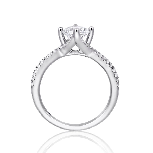 Fana Twist Solitaire Engagement Ring