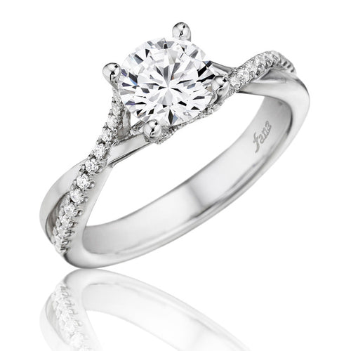 Fana Polished Diamond Twist Engagement Ring