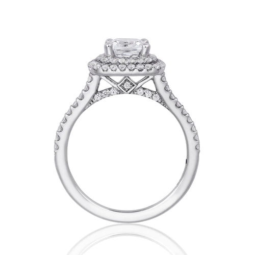 Fana Double Cushion Halo Engagement Ring
