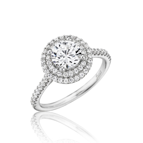 Fana Round Double Halo Engagement Ring