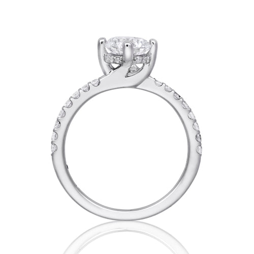 Fana Petite Solitaire Diamond Engagement Ring