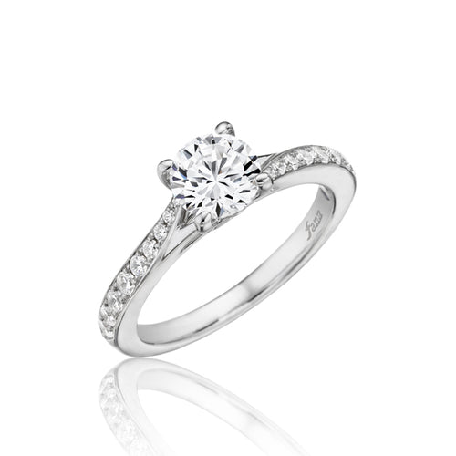 Fana Twisted Shank Solitaire Engagement Ring