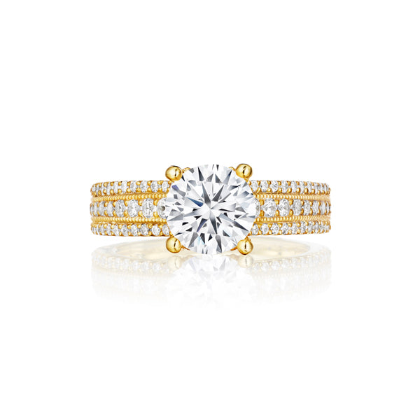Fana Three Row Solitaire Engagement Ring