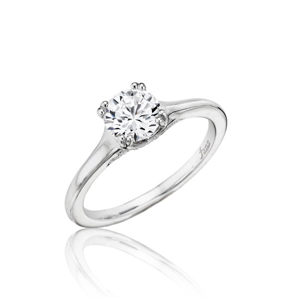 Fana Diamond Undercarriage 14 Karat White Gold Solitaire Engagement Mounting