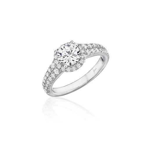 Fana Two Row Halo Engagement Ring