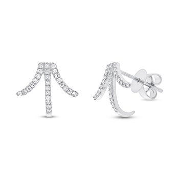 Shy Creations Art Deco Diamond Ear Climbers