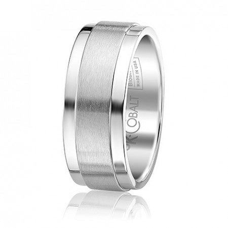 Cobalt Nine Millimeter Satin Center Band