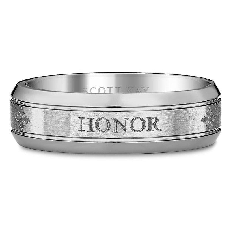 Cobalt Strength Honor God Beveled Band