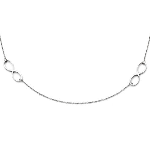 Double Infinity Polished Necklace