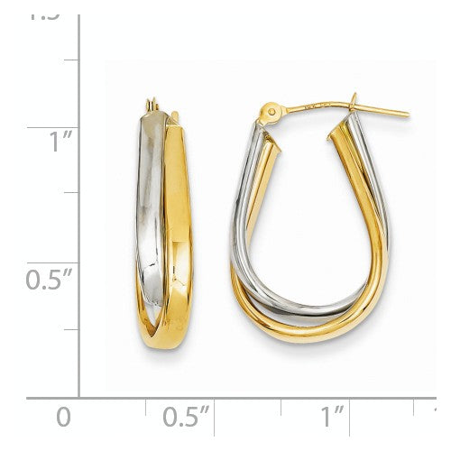 Two Tone Double Polished Hoop