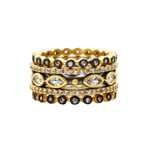 Freida Rothman Signature Mixed Marquise 5-stack Ring