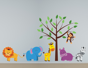 Jungle Animals Fabric Wall Decals