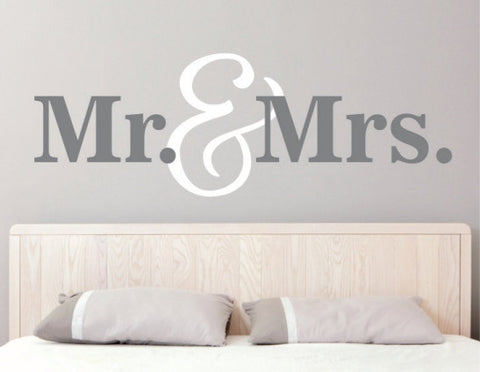 Mr. & Mrs. Decal
